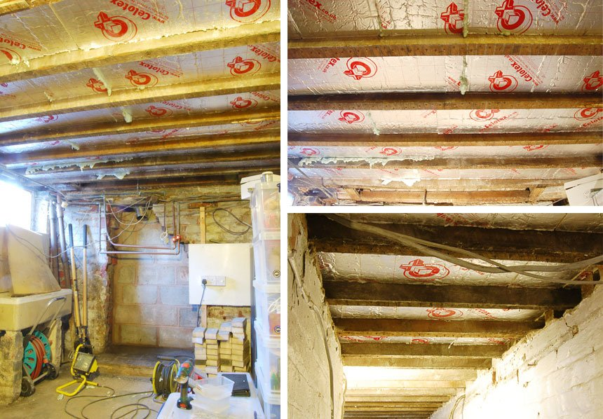 Insulated Cellar Ceiling