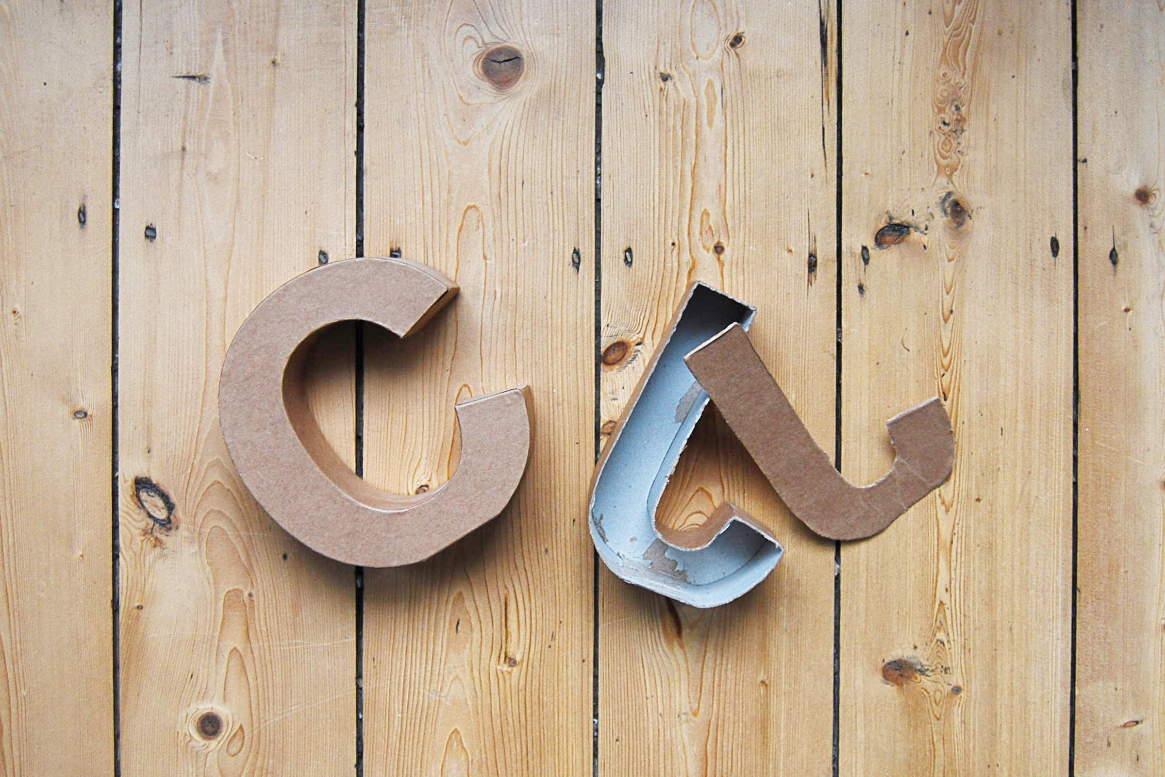 DIY Concrete Letter Bookends - Mould | Little House On The Corner