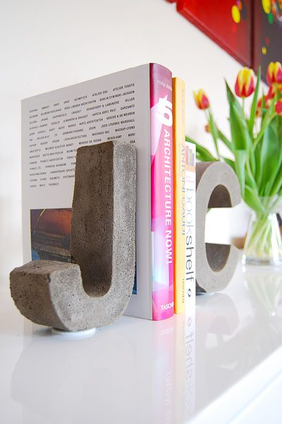 DIY Concrete Bookend