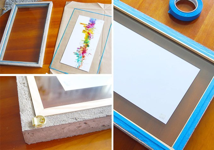 DIY Concrete Picture Frame | Little House On The Corner