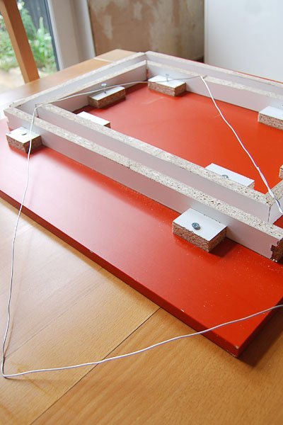 DIY Concrete Picture Frame - Filling