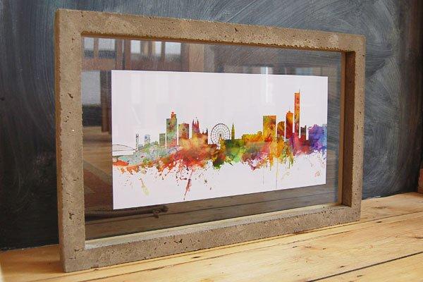 DIY Concrete Picture Frame