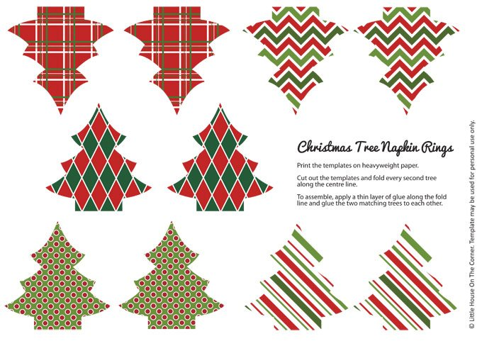 image regarding Printable Napkin Rings Template named Do-it-yourself Xmas Napkin Rings (Free of charge Printable)