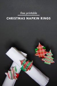 DIY Christmas Napkin Rings - Free Printable | Little House On The Corner