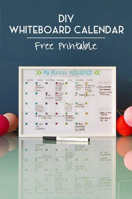DIY Whiteboard Calendar