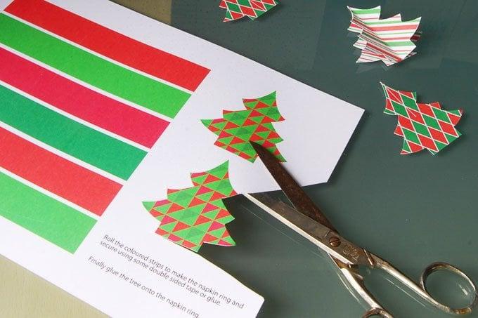 DIY Christmas Napkin Rings (Free Printable)
