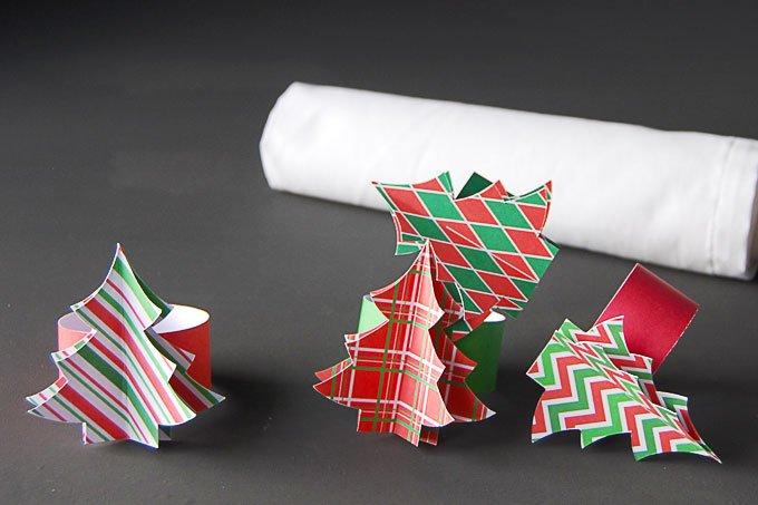 DIY Christmas Napkin Ring Printable