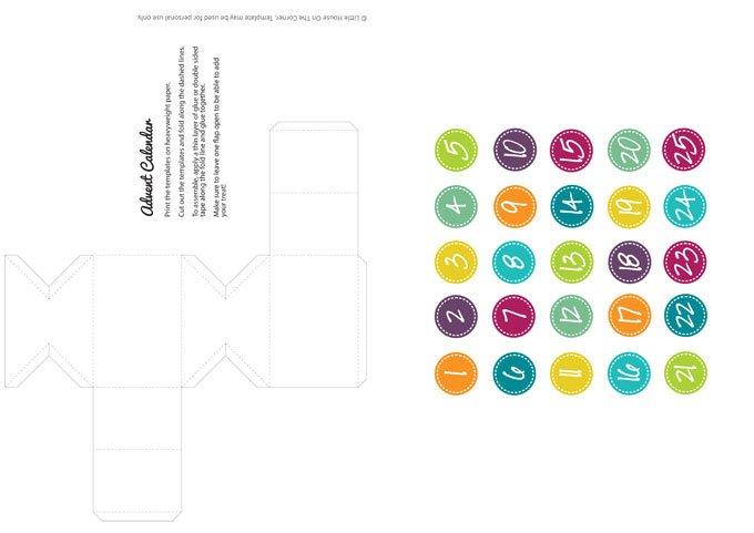 Advent Calendar Diy Template : Diy advent calendar free printable little house on the
