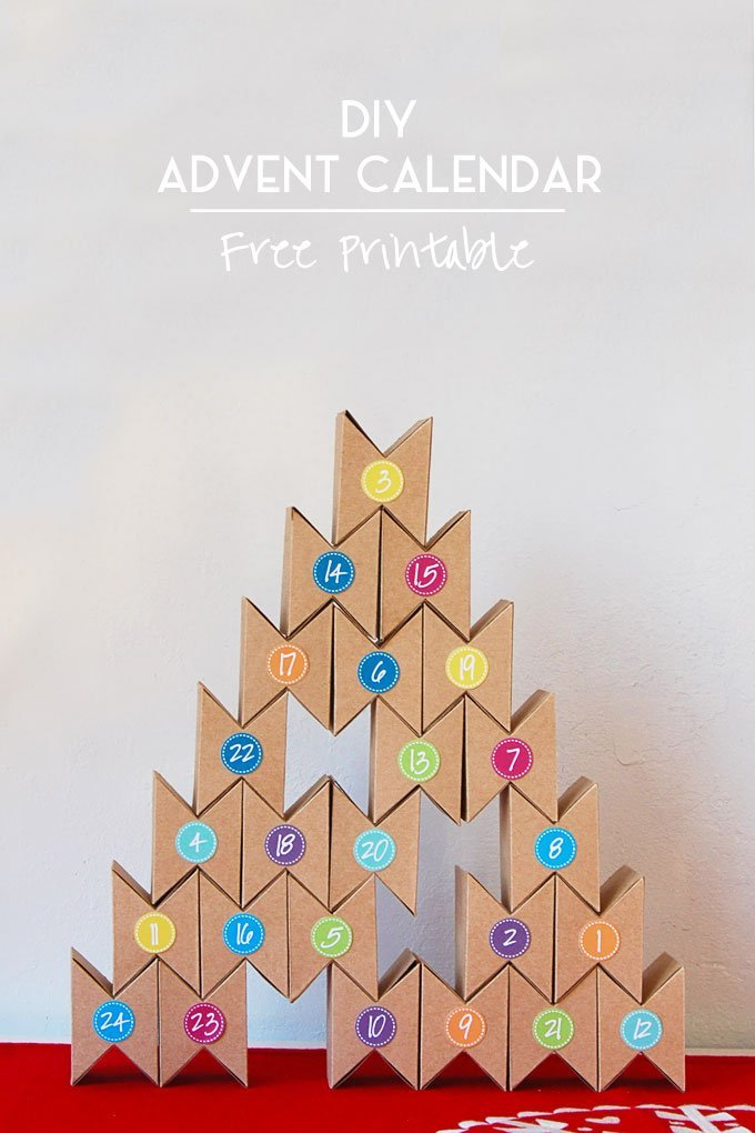 Advent Calendar Diy Template : Diy advent calendar free printable little house on the