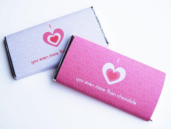 Valentine's Chocolate Wrapper
