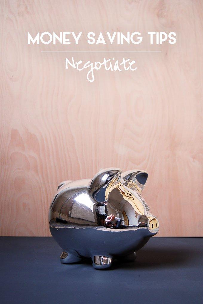 Money Saving Tips - Negotiate
