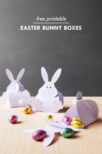 DIY Easter Boxes - Free Printable Easter Bunny Boxes | Little House On The Corner