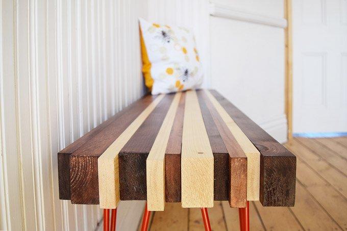 DIY Hallway Bench
