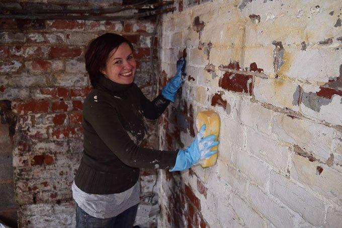 Painting Cellar Walls