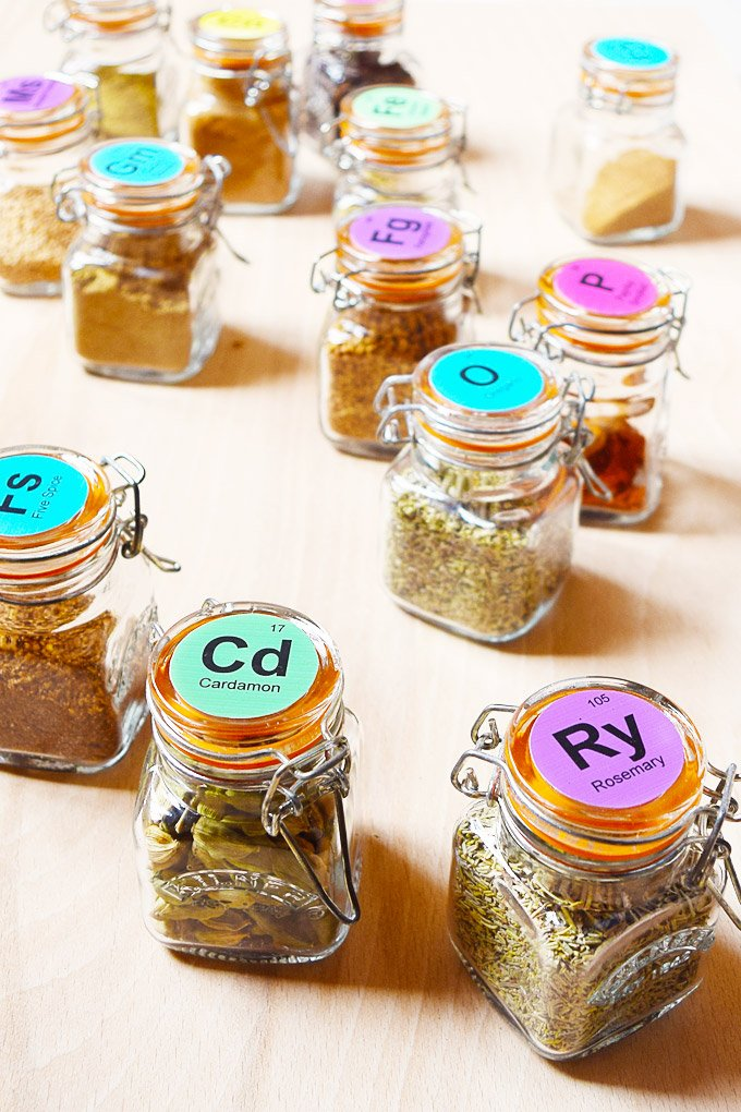 Spice Jar Labels