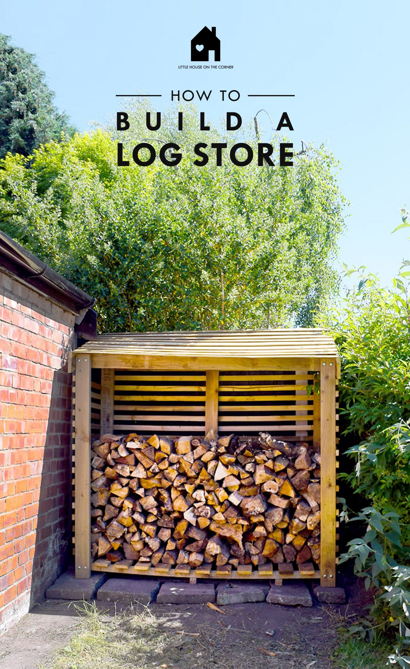 Instructions 4FT Tall Double Bay Log Store Plans