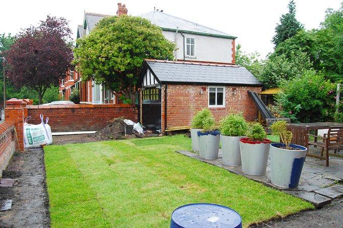 Garden Progress - Laying Turf