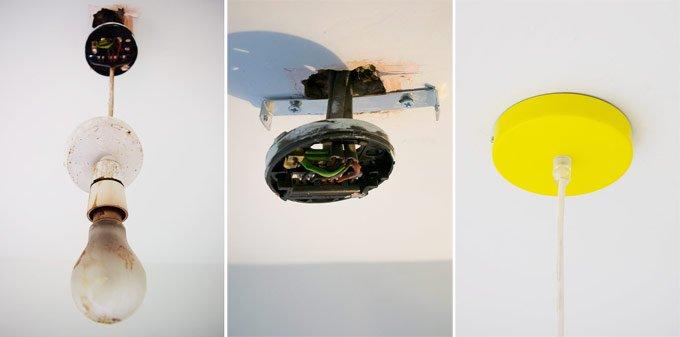 aerial metal pendant light