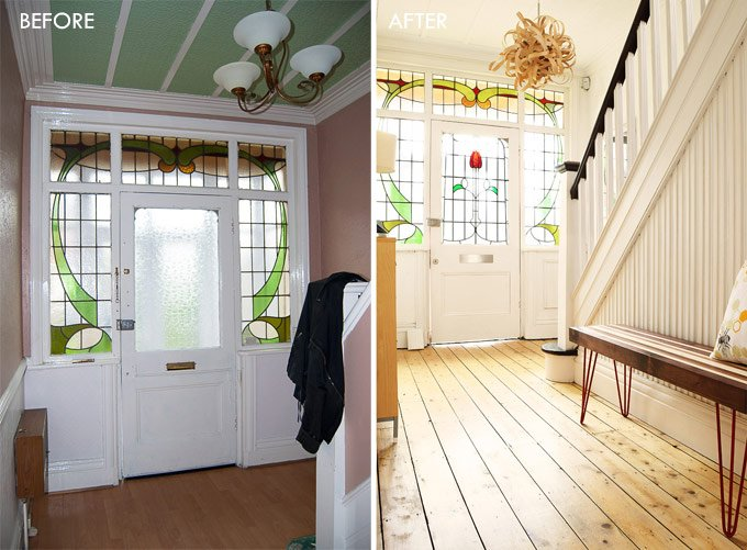Edwardian Hallway Before & After
