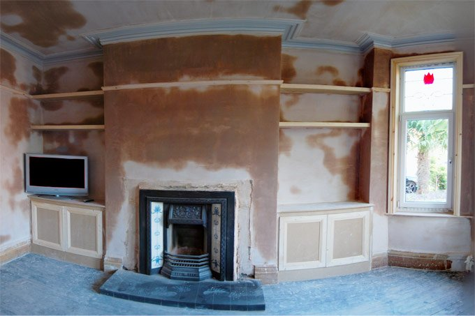 Replastered Living Room