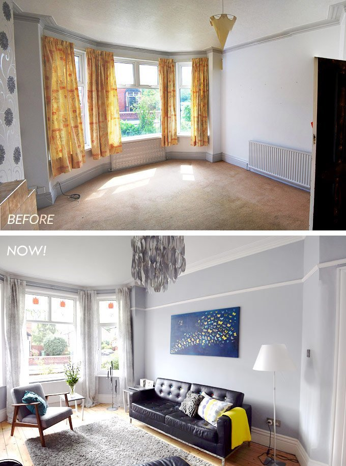 Edwardian Living Room Before & After