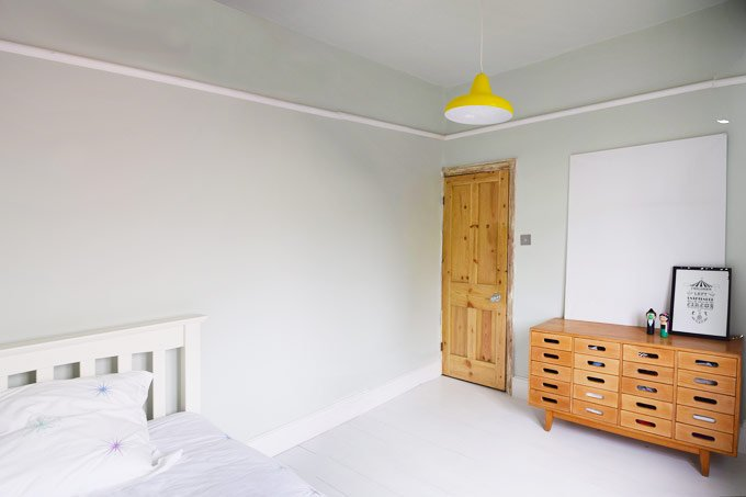 Bedroom with Farrow and Ball Pale Powder Walls