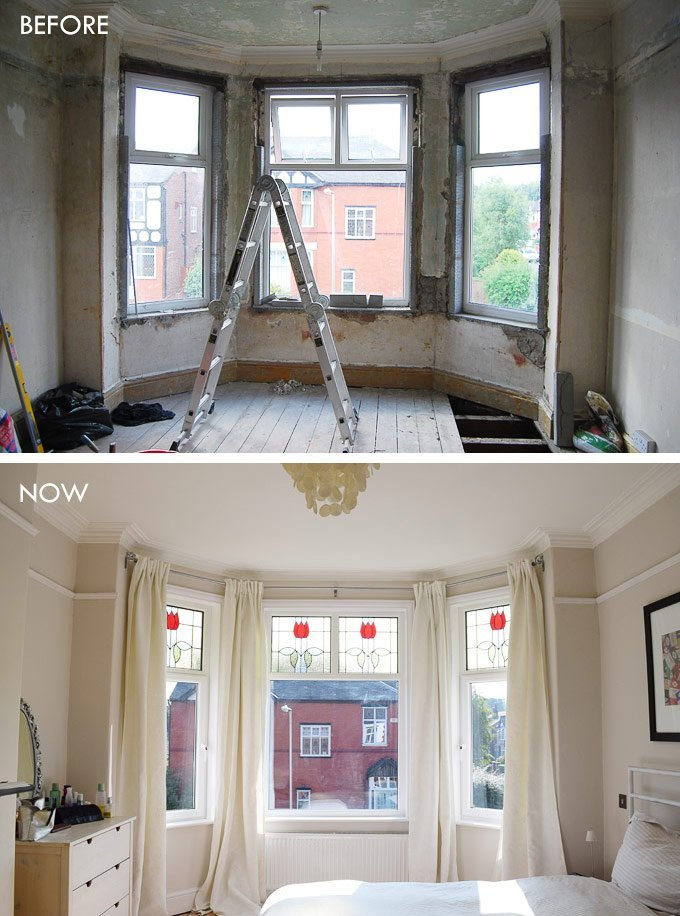 Installing Architrave Before & After