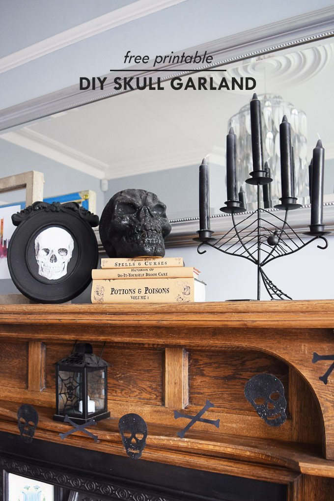 DIY Halloween Skull Garland