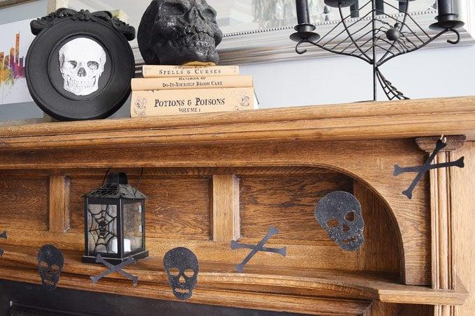 DIY Halloween Skull Garland