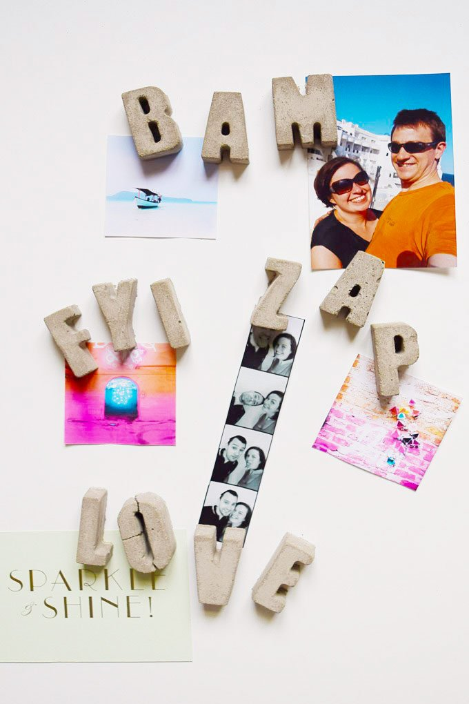 DIY Concrete Letter Magnets| Little House On The Corner