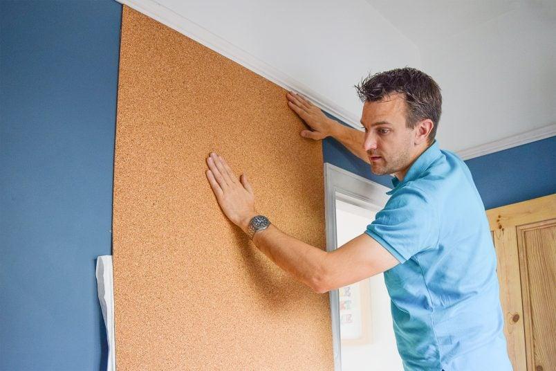 DIY Corkboard Wall | Little House On The Corner