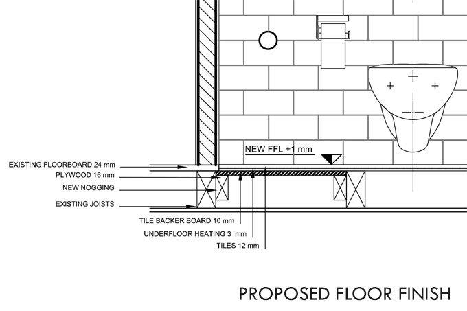 Proposed Bathroom Floor Finish