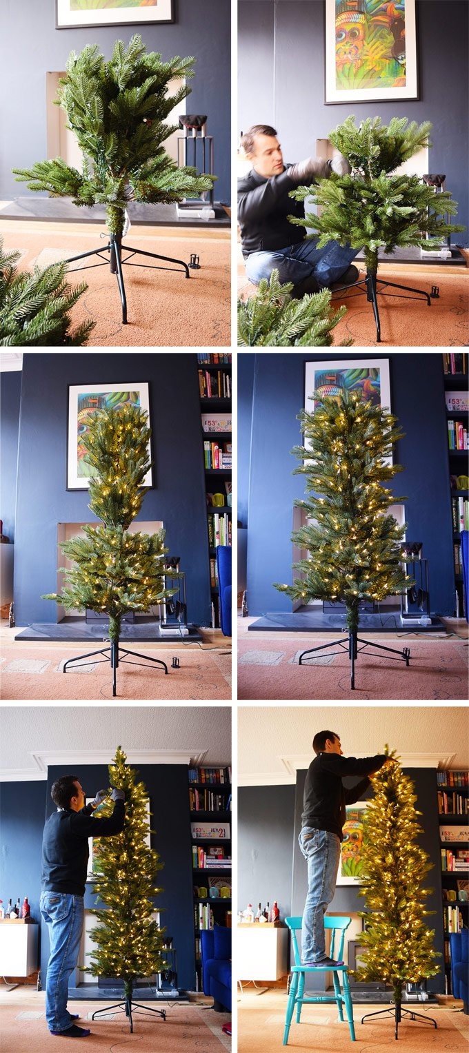 Putting Up An Artificial Christmas Tree