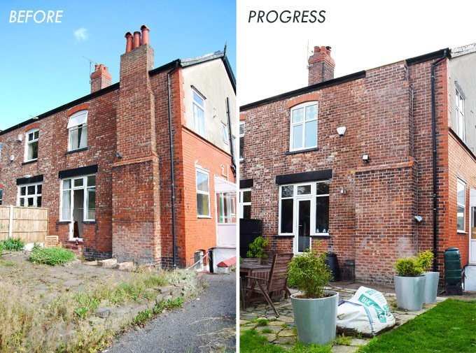 Repointing Before and After