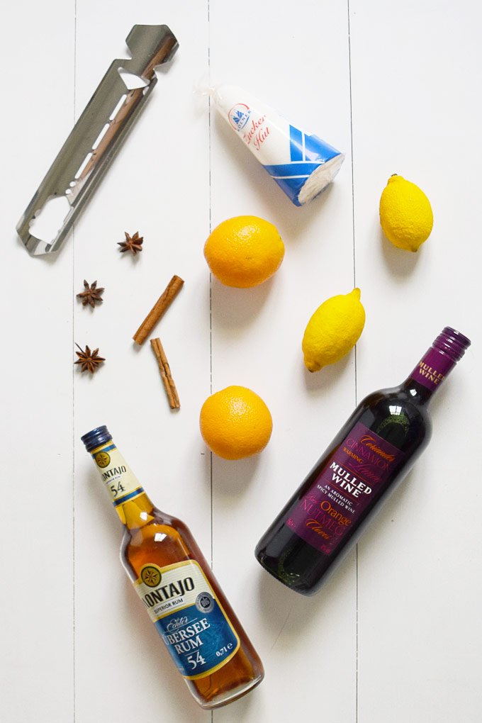 Feuerzangenbowle - Ingredients for the best mulled wine recipe!
