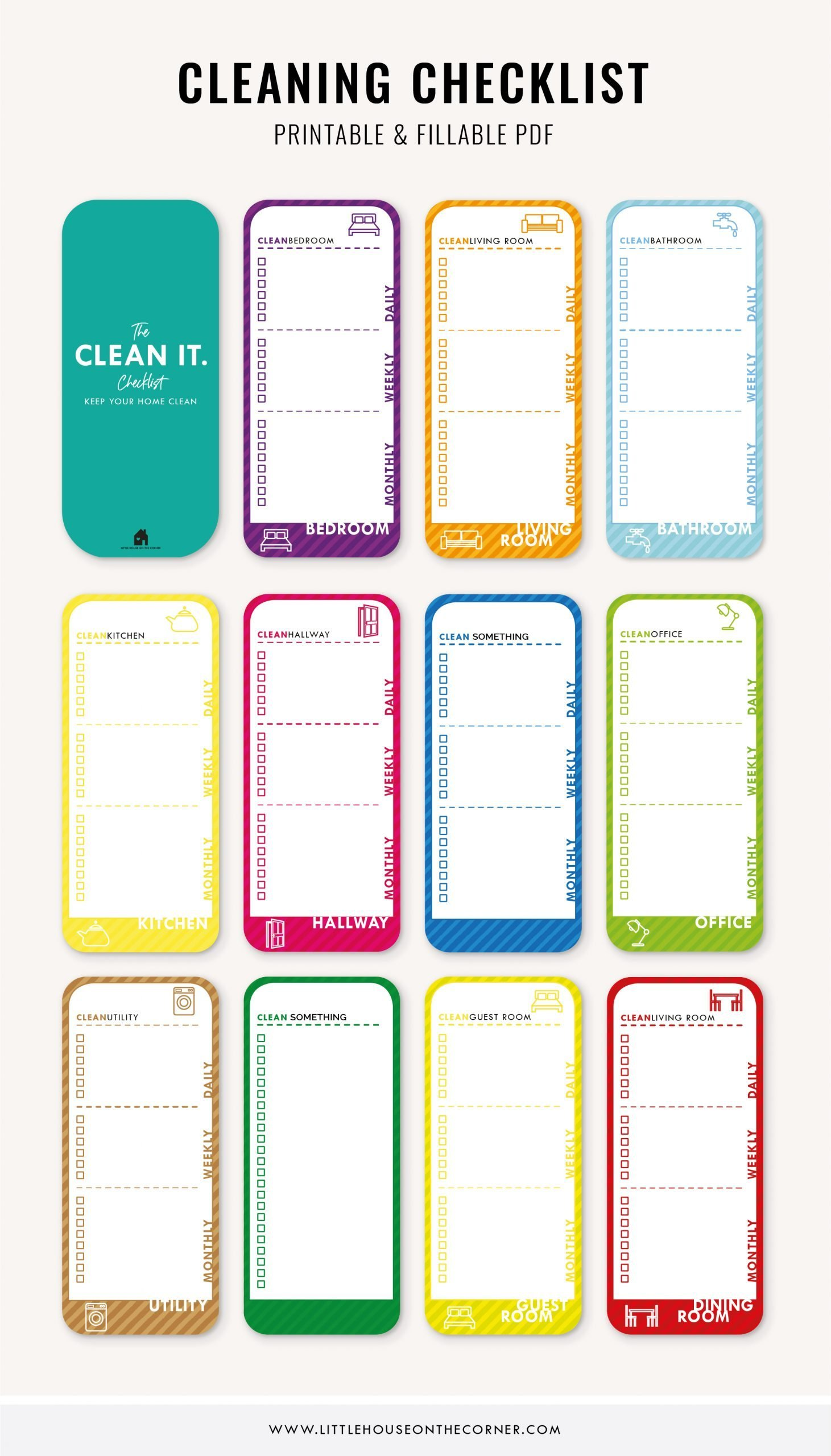 Customizable Cleaning Checklist