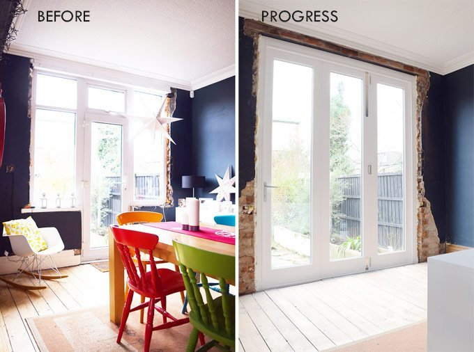 Bifold Doors Before and After