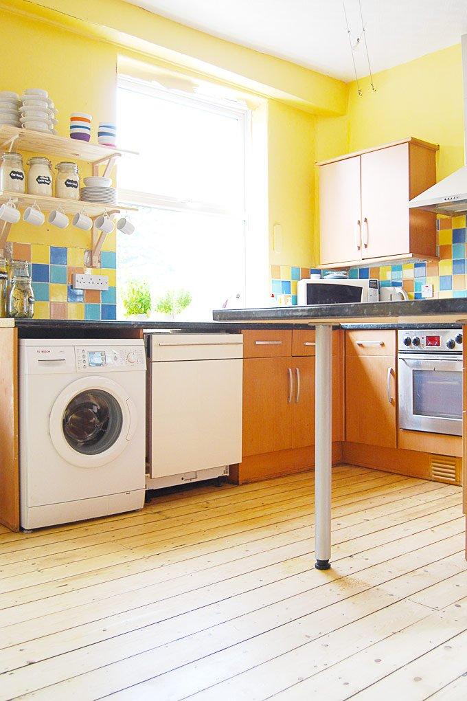Sanded Floorboards In Kitchen
