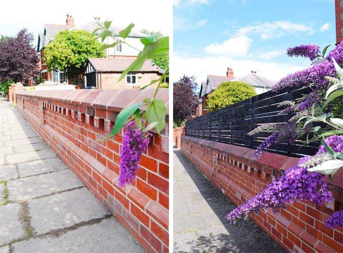 DIY Slatted Garden Fence