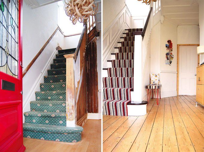 Staircase Restoration Before & After