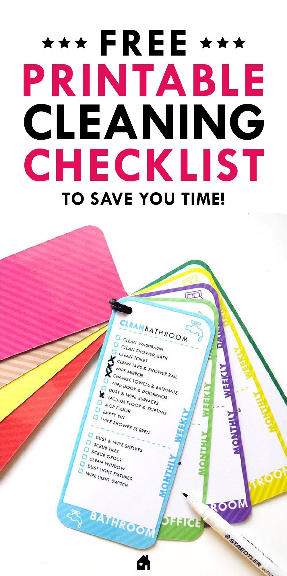 Cleaning Checklist - Free Printable!