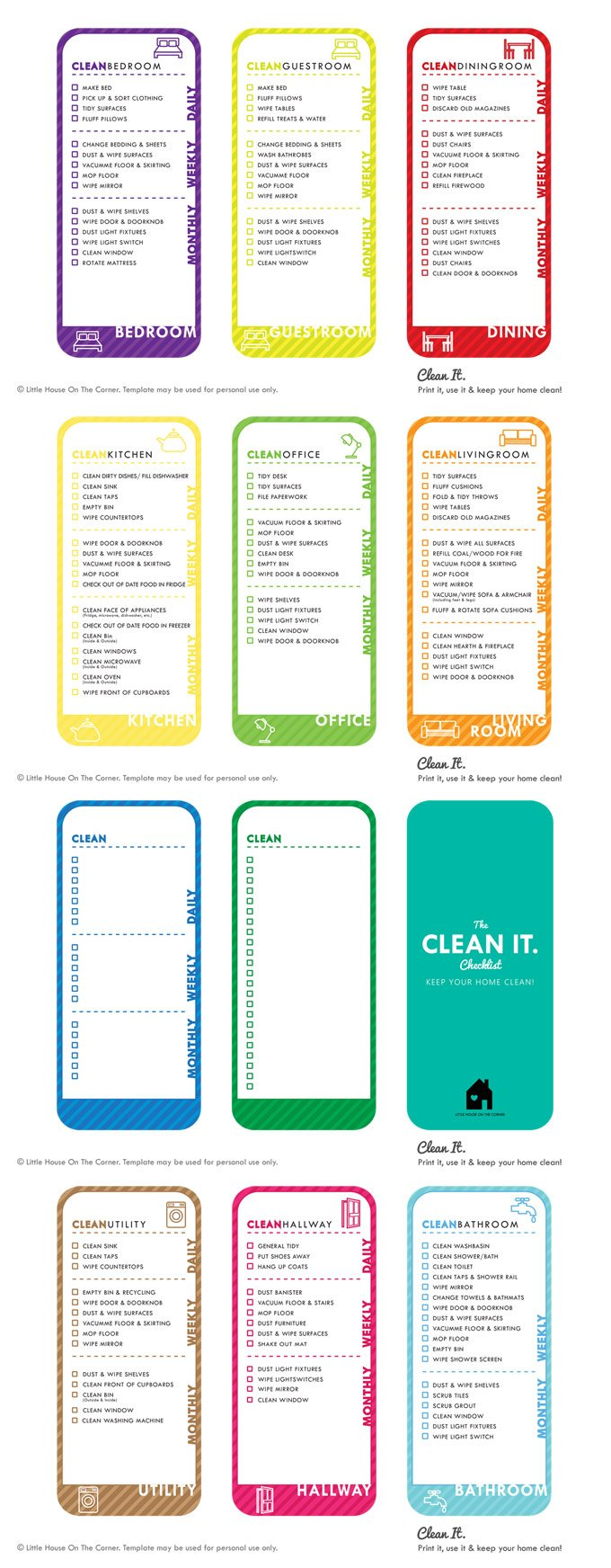 house cleaning checklist free printable