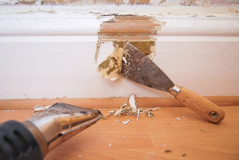 Stripping lead paint