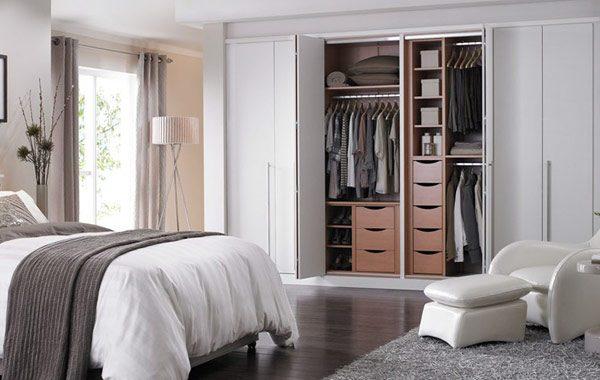 wardrobe with bi-fold doors