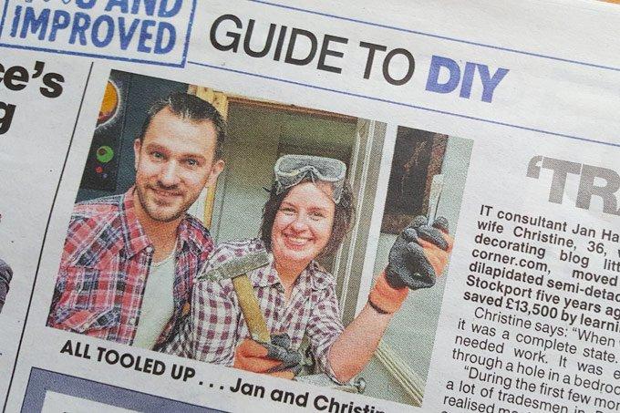 Christine & Jan in the Newspaper