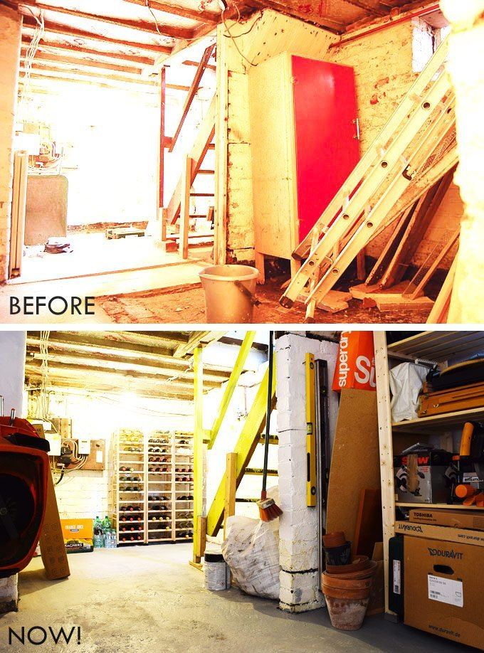 Cellar Before and After