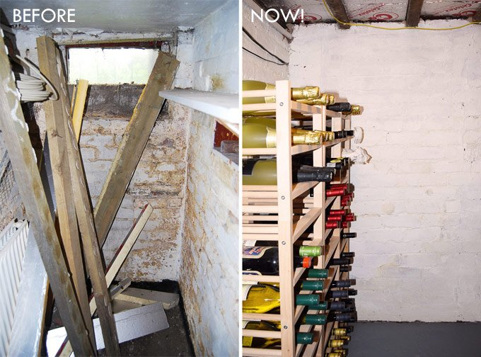 Before and After Cellar Makeover