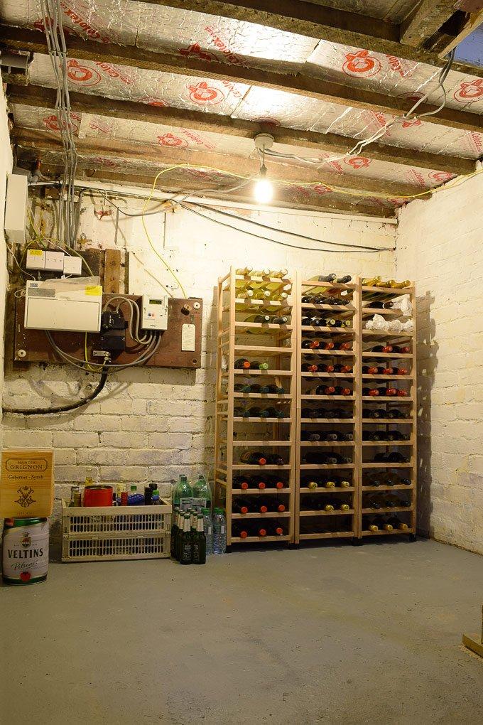 Cellar with wine storage