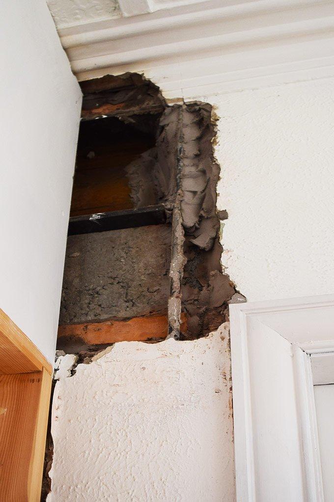 Hallway Before Plastering