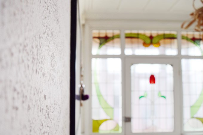 Hallway With Artex Before Plastering